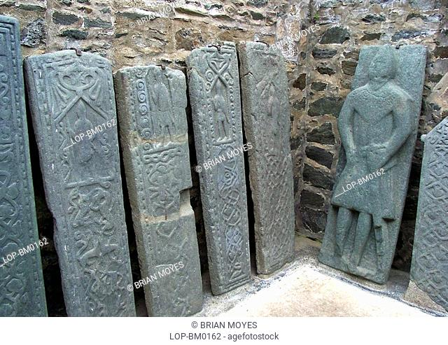 Scotland, Argyll and Bute, Kilmartin, Ancient gravestones at Kilmartin