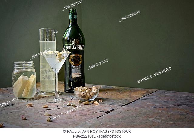 parmigiano reggiano martini with pistachios
