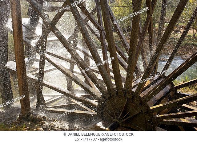 old waterheel ,Cabriel river, Hoces del cabriel Nature reserve, Casas del Rio, Valencia, Spain