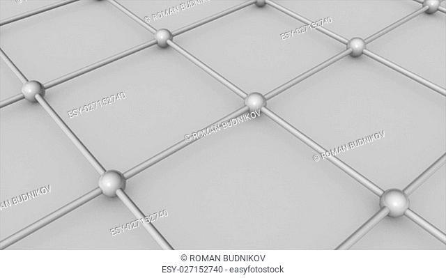Abstract 3d render Molecular floor. Technology background