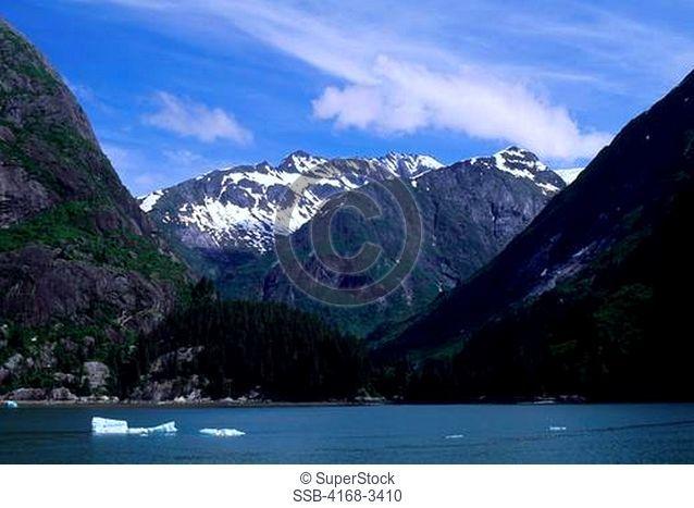 Usa, Alaska, Near Juneau, Tracy Arm, Fjord Landscape Carved By Glacier