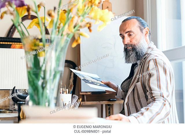 Man working in his studio
