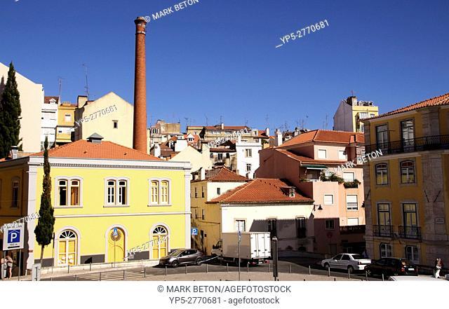 Buildings in Sao Bento Lisbon Portugal