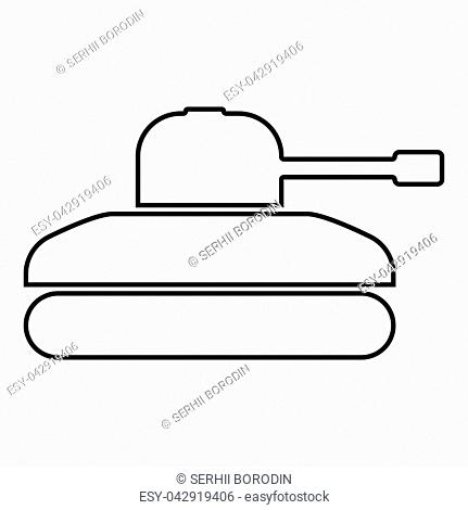 Tank icon black color vector illustration flat style simple image