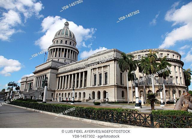 Panoramic View of the Capitol, Havana, Cuba