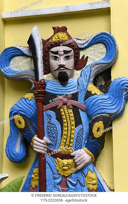 Statue in temple at Tao Dan Culture Park,Ho Chi Minh City,Vietnam,South East Asia