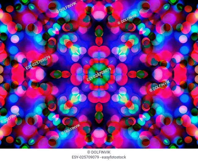 abstract colorful seamless pattern kaleidoscope, star painting