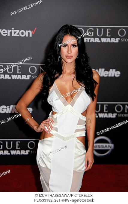 """Brittany Furlan 12/10/2016 The World Premiere of """"""""Rogue One: A Star Wars Story"""""""" held at the Pantages Theatre in Los Angeles"""