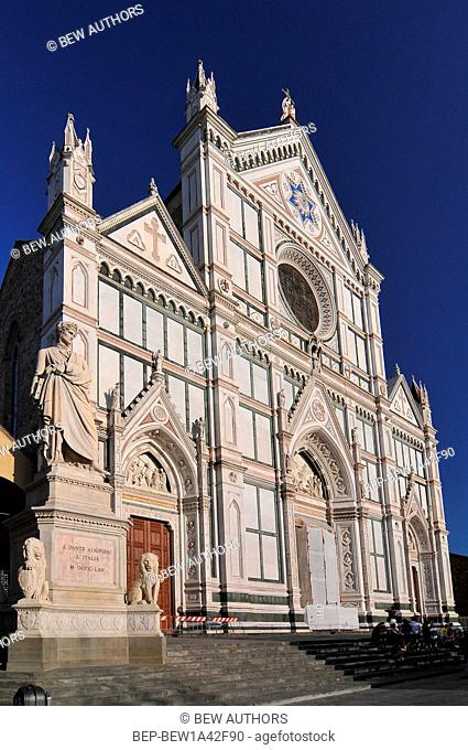 Basilica of Santa Croce in Florence, Italy