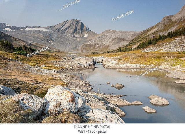 simple mountain scene in backcountry of Kananaskis Country, Alberta, Canada