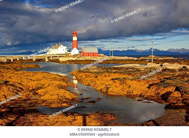 Europe, Norway, Nordnorwegen, province northern country, local authority district Hamaroy, island Tranoy, lighthouse of Tranoy