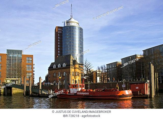 Hanseatic Trade Center and Polizeiwache Building, Hamburg Harbour, Hamburg, Germany, Europe