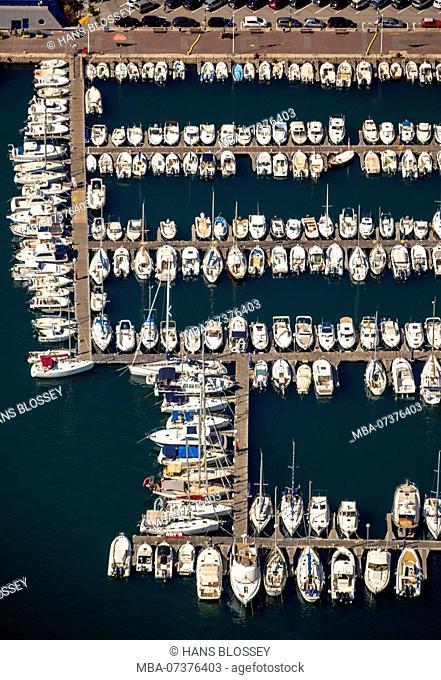 Marina of Port-Vendres, Mediterranean coast, marina, sailboat marina, Port-Vendres, Pyrénées-Orientales department, Occitanie region, France