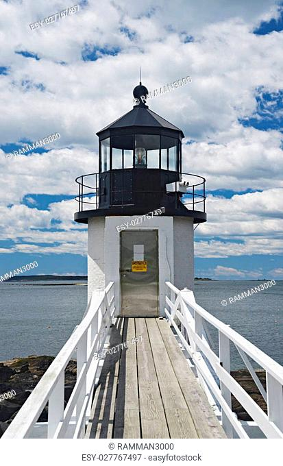 The Marshall Point Lighthouse located in Port Clyde, Maine