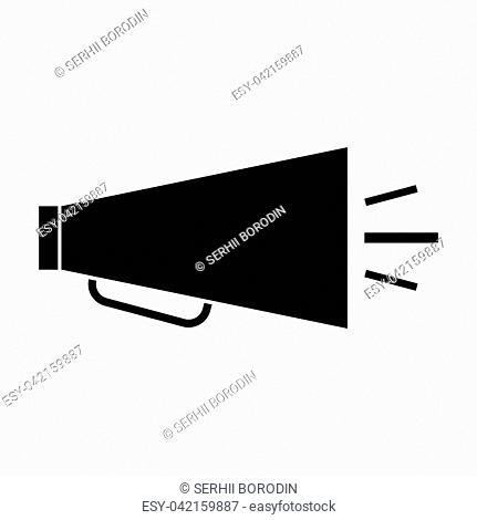 Retro loudspeaker it is black color icon