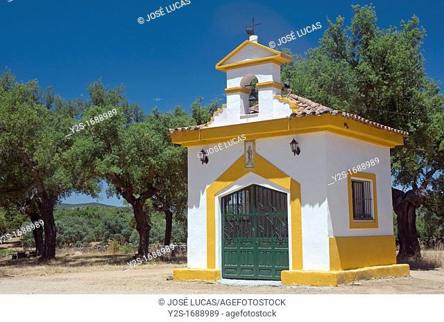 Recreational area 'Las Tres Encinas'-hermitage, Cala, Huelva-province, Spain