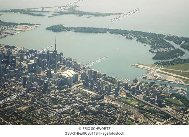 Aerial View of Toronto Coast, Ontario, Canada
