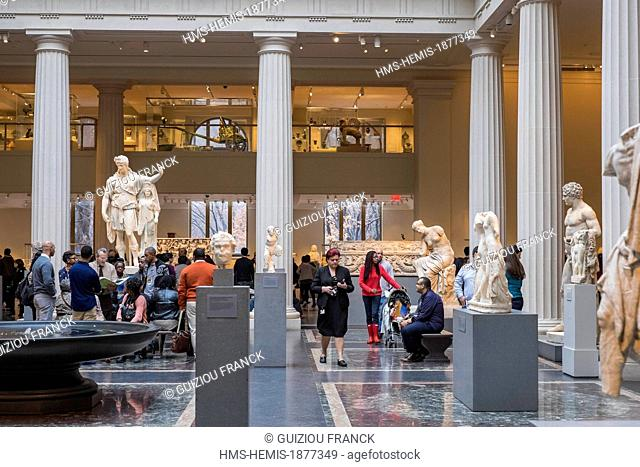 United States, New York, Manhattan, East Side, Metropolitan Museum of Art (MET), gallery of Greek and Roman art