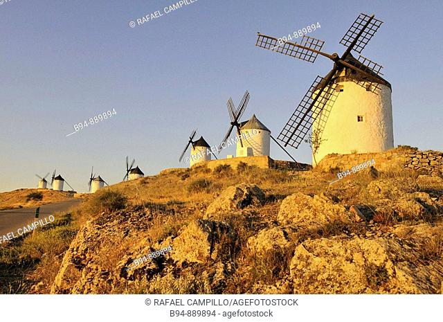 Windmills, Consuegra. Toledo province, Castilla-La Mancha, Spain