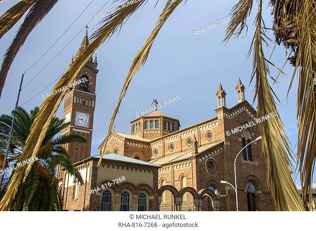 St. Mary's Catholic Cathedral on Harnet Avenue, Asmara, capital of Eritrea, Africa