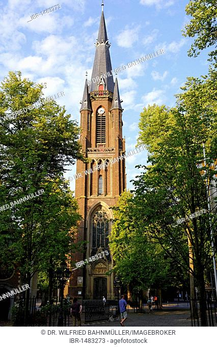 Steeple of Basilica of St. Mary, Kevelaer, North Rhine-Westfalia, Germany, Europe