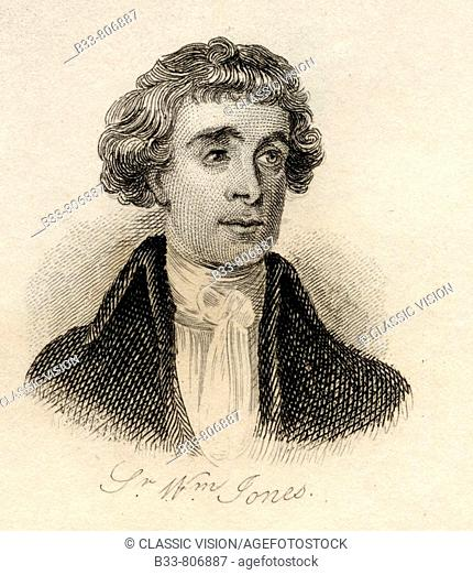 Sir William Jones 1746 - 1794 English philologist and student of ancient India From the book Crabb's Historical Dictionary published 1825