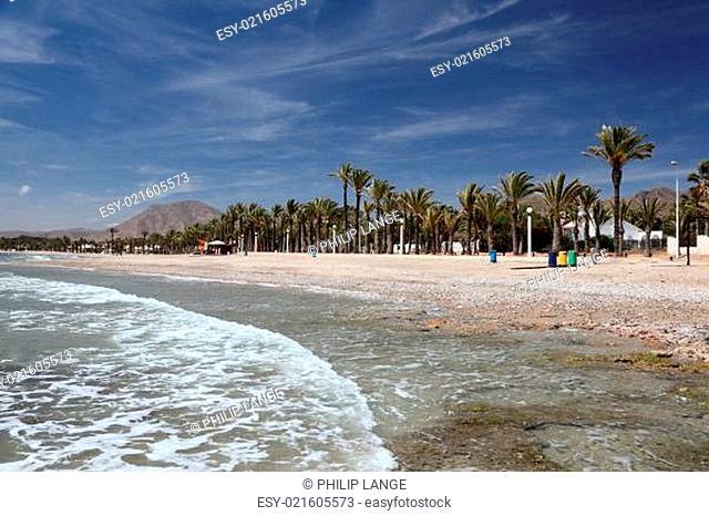 Beautiful beach of La Azohia, Costa Calida, Spain