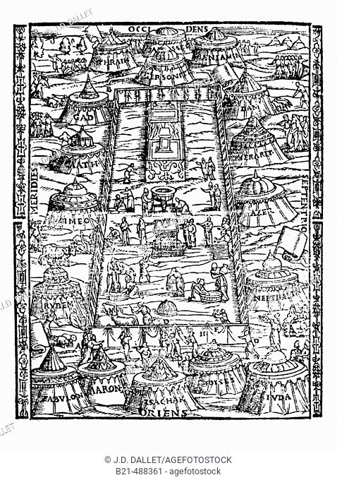 Life at the camp of the twelve tribes. Latin Bible. Venice, 1608