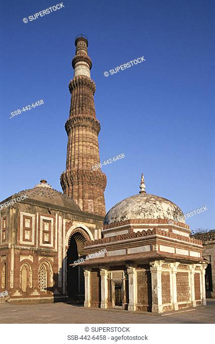 Minaret, Victory Tower, Qutb Minar Mosque, Delhi, Delhi, India