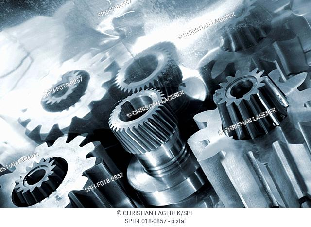 Metal cogs and gears