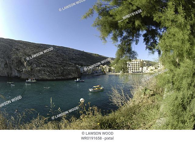 Xlendi Bay, Gozo, Maltese Islands, Mediterranean