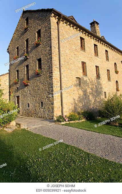Casa de San Martin Inn, in Aragon, in the Pyrenees Mountains, Province of Huesca, Spain