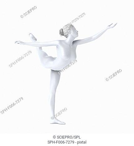Ballet dancer, computer artwork