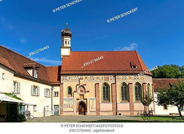 Palace Chapel of Blutenburg Castle in Munich Obermenzing, Bavaria, Germany