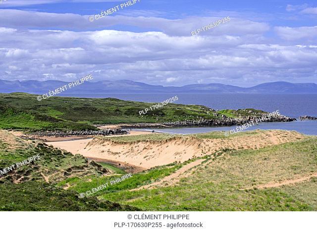 Dunes and sandy beaches at Red Point / Redpoint, Ross and Cromarty, Scottish Highlands, Scotland, UK