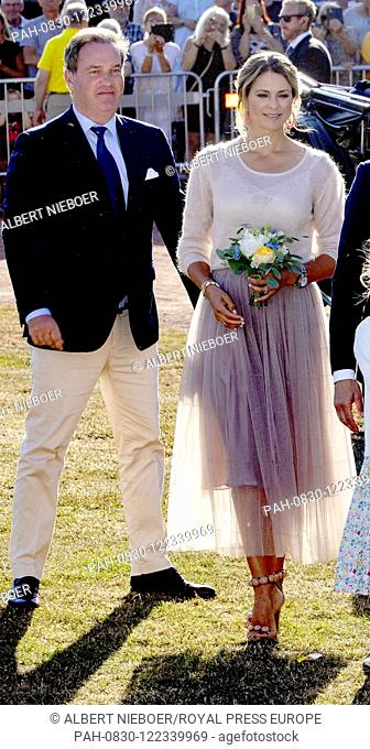 Princess Madeleine and Christopher O?Neill.of Sweden at the Borgholm Sports Arena in Borgholm, on July 14, 2019, .to attend the celebration of Crown Princess...