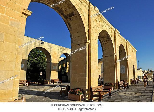 Upper Barrakka Gardens, Valletta, Malta, Southern Europe