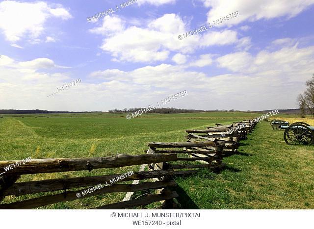 Pea Ridge Battlefield in Arkansas