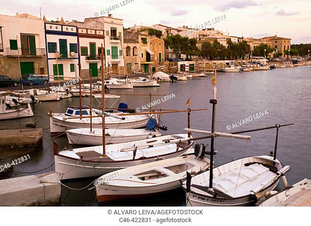 Fishing port, Porto Colom. Majorca, Balearic Islands. Spain