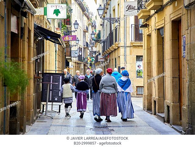 Old city, regional costumes, Feria de Santo Tomás, The feast of St. Thomas takes place on December 21. During this day San Sebastián is transformed into a rural...
