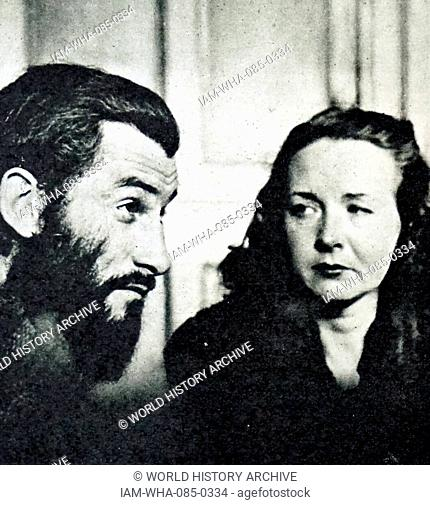Photograph of Geneviève Danelle and Roger Calame. Geneviève Danelle was the first woman to face the firing-squad in the Paris region since the Great War