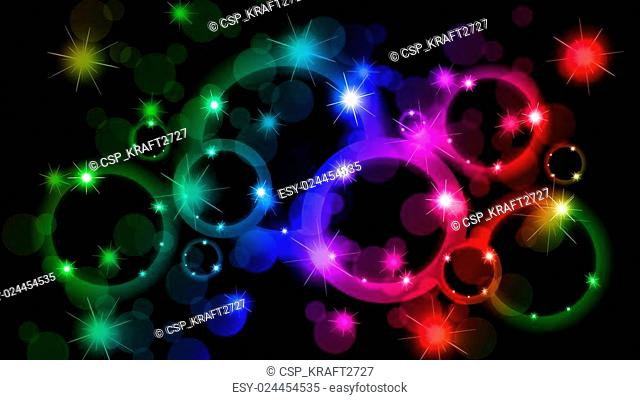 Bokeh abstract background of differ