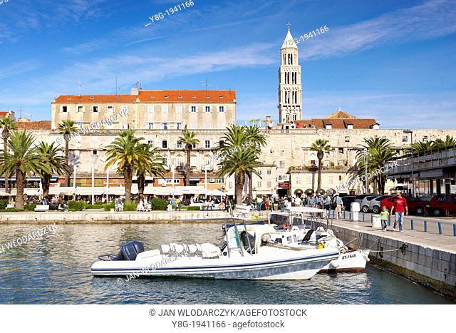 Croatia - Split, Old Town, view from harbor of the Diocletian Palace, Dalmatia, Croatia, UNESCO