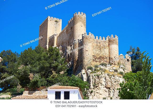 Almansa castle in Albacete of Spain at Castile La Mancha province