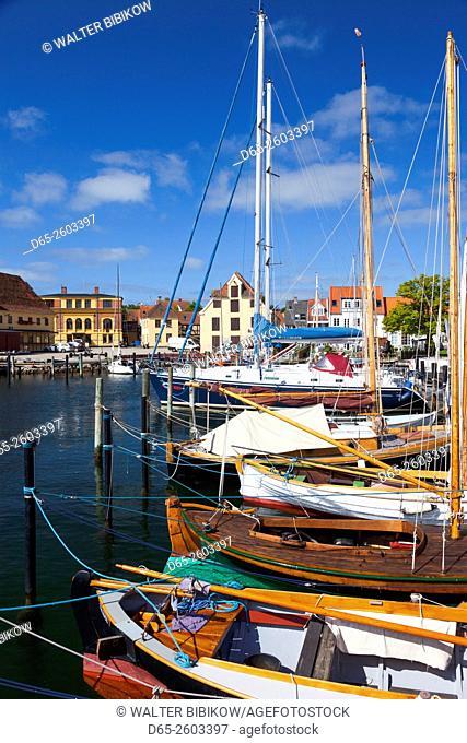 Denmark, Funen, Svendborg, harbor view