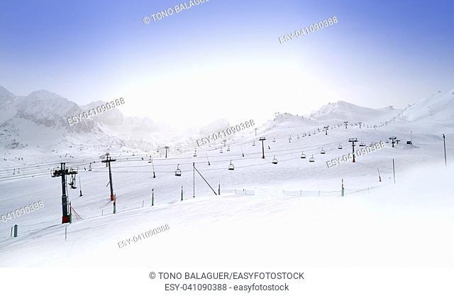 Pas de la Casa ski resort of Andorra in Grandvalira sector