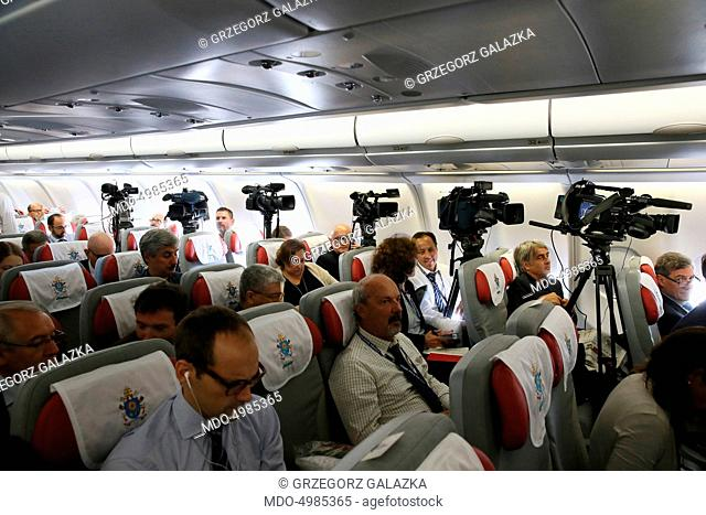 Flight of the Pope from Rome to Havana. 19th September 2015