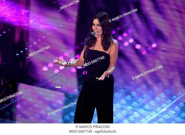 67th Sanremo Music Festival, 5th night. Paola Turci performs. Sanremo (Italy), February 11, 2017