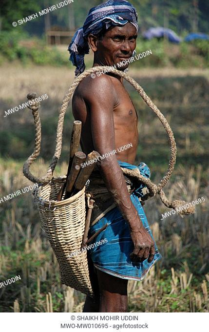 Portrait of a professional tree climber locally known as 'gaachi' in Avaynagar, Jessore, Bangladesh December 6, 2007