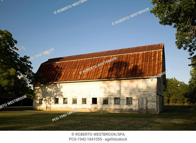 Barn With Rusted Tin Roof